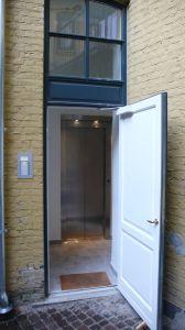 esplanaden: bitrappen er erstattet med elevator